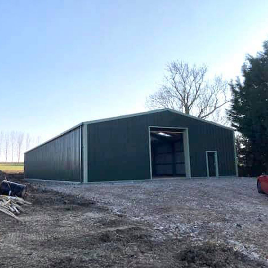 Steel framed Insulated storage building thumb
