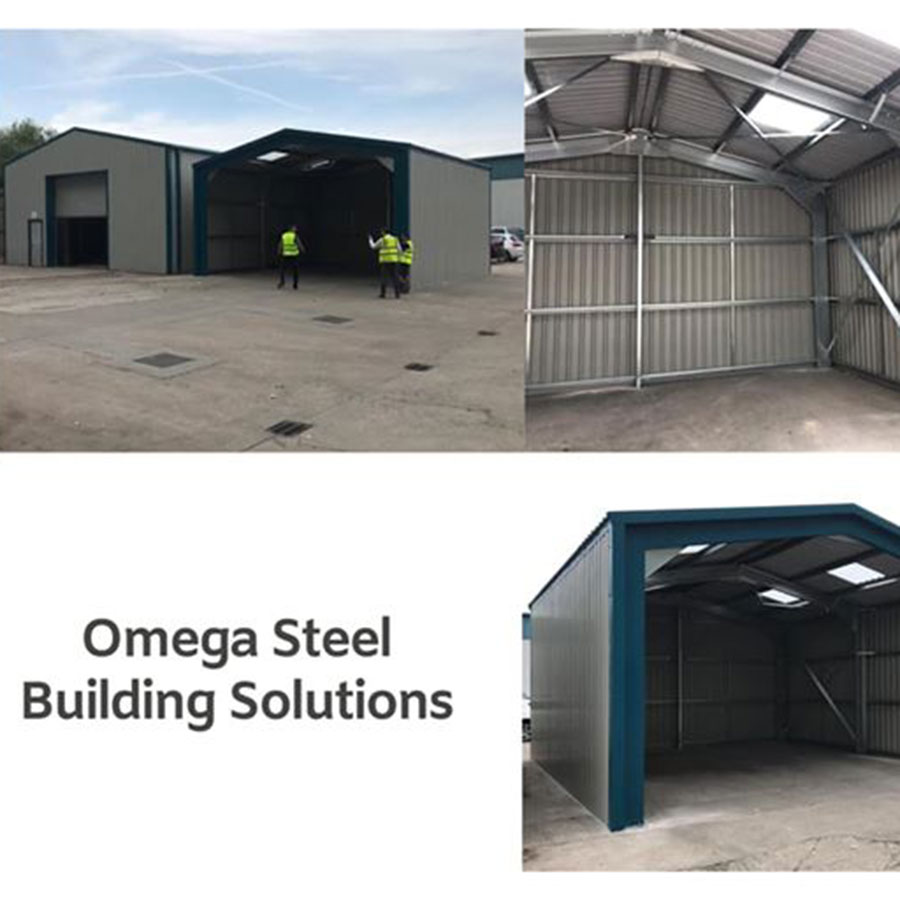 Open Gable Steel Building