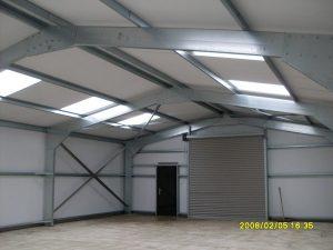 inside general steel building