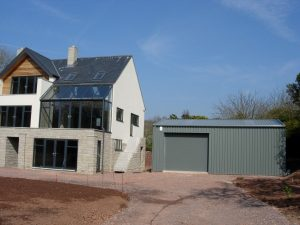 Steel garages with home