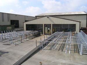 industrial steel building - front view