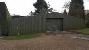 steel building extension at Hemel Hempstead