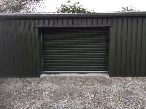 Main roller door of workshop